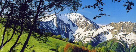 The beautiful landscape of Adygea