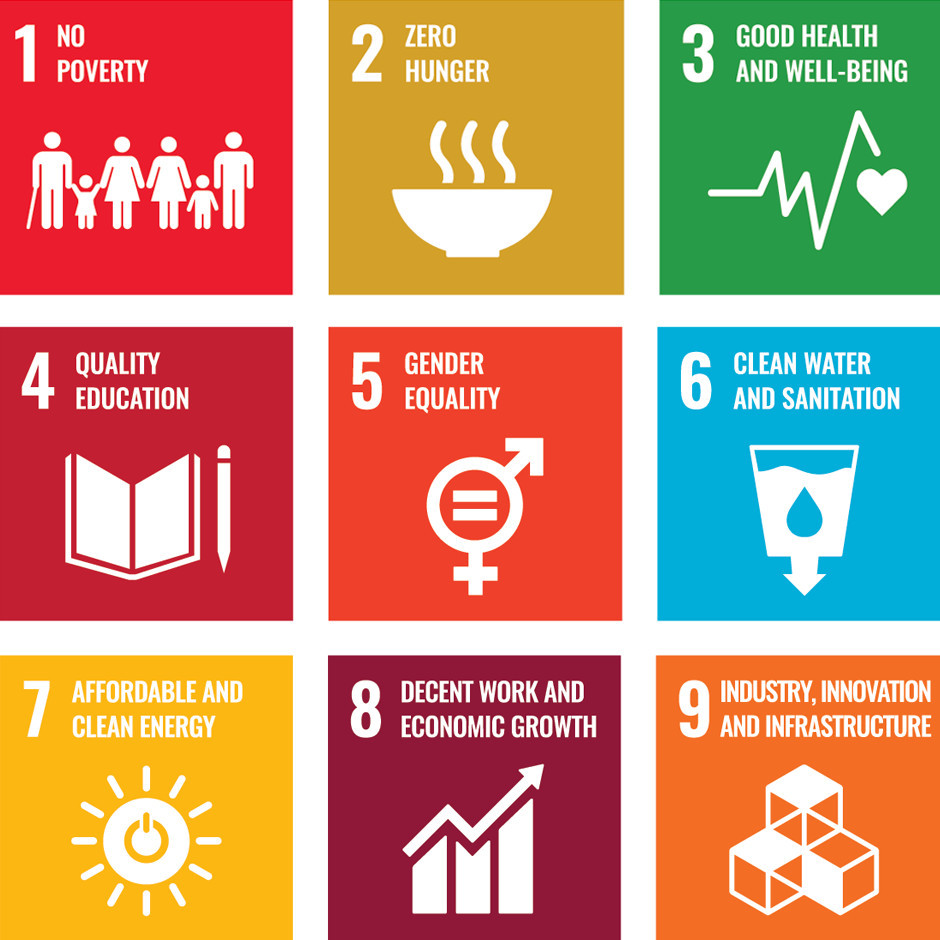 Sustainable Development Goals #1 to #9