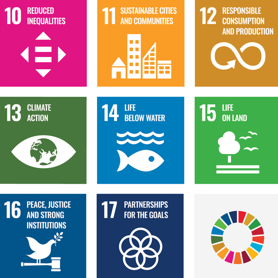 Sustainable Development Goals #10 to #17