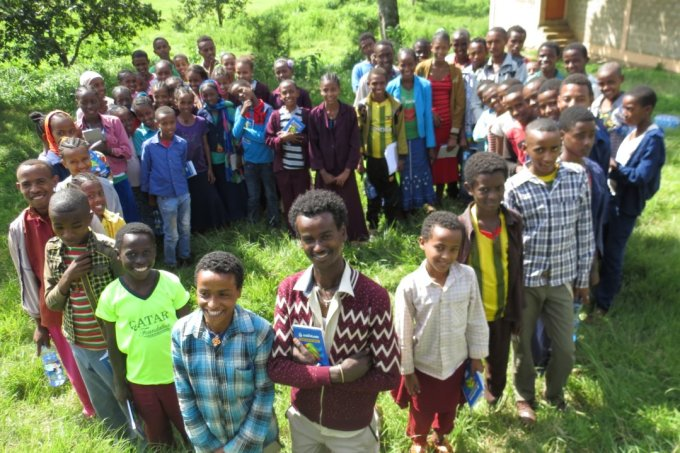 Future stakeholders and conservationists: Pupils in Ethiopia - photo: NABU